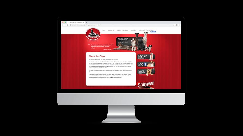 Leader Of The Pack - Website