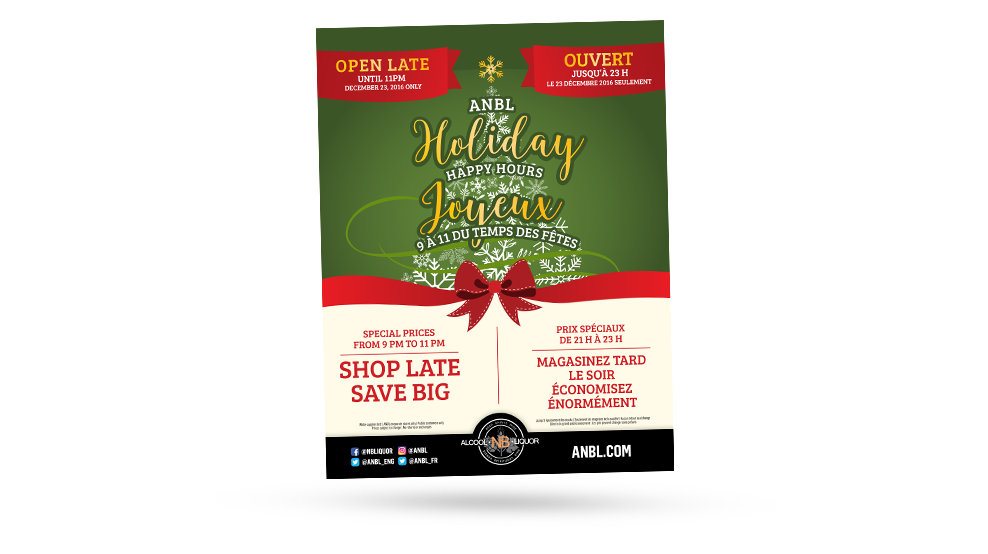 ANBL - Holiday Happy Hours Promo