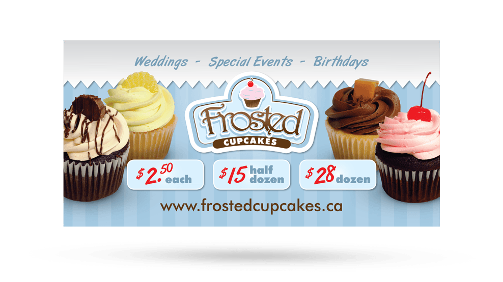 Frosted Cupcakes - Banner
