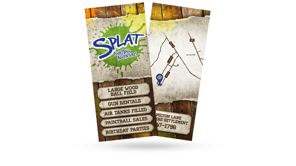 Splat Paintball - Flyer