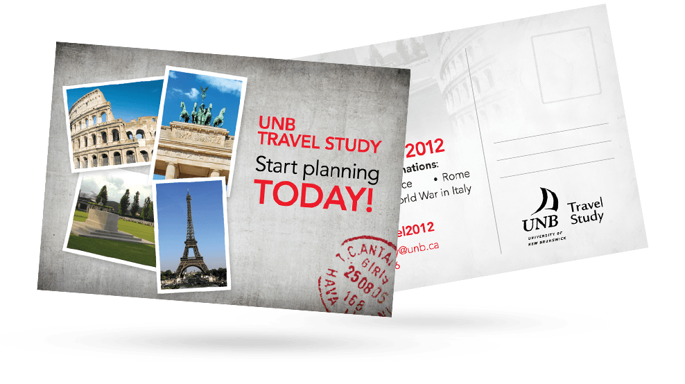 UNB Travel - Postcard