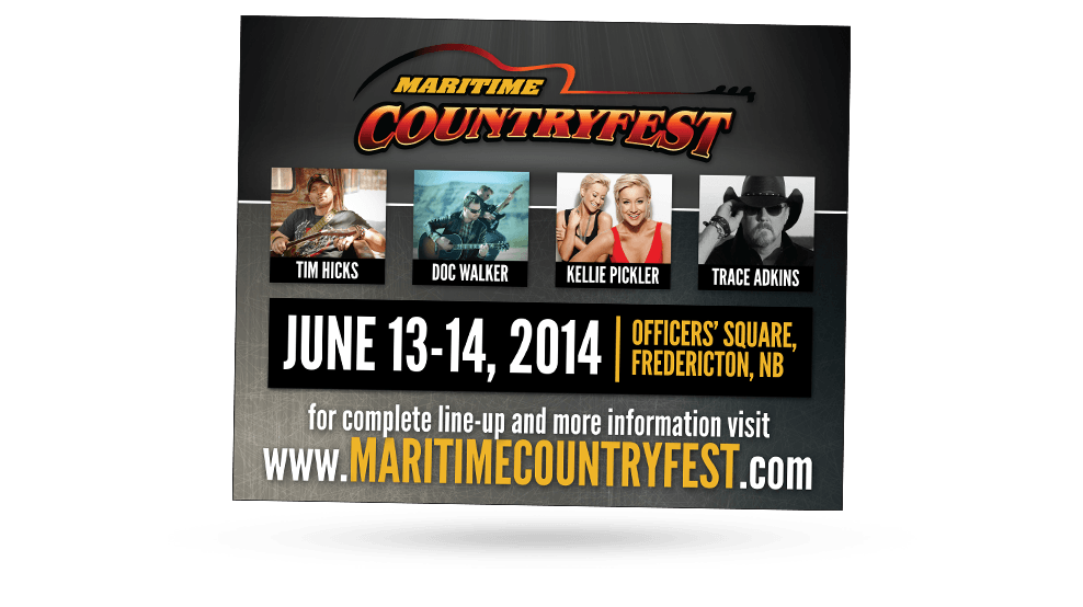 Maritime CountryFest - Ad