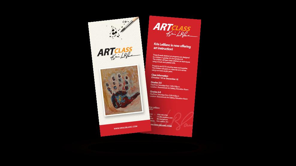Kris Leblanc Art Class - Flyer
