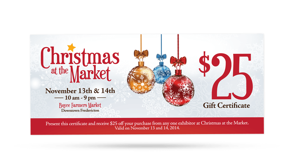 Christmas At the Market - Gift Certificate