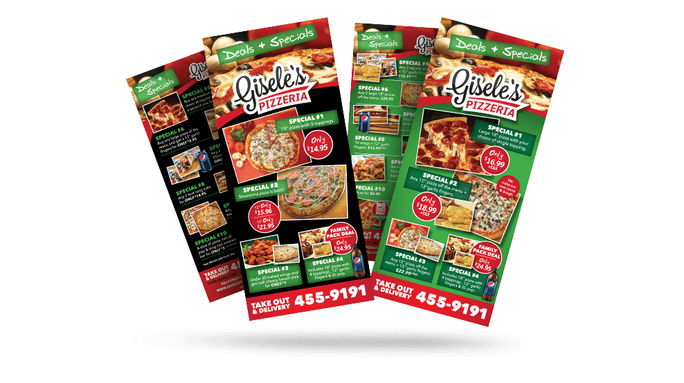 Giseles Pizza - Flyer