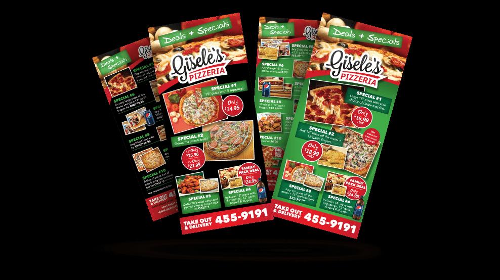 Giseles Pizza - Flyer
