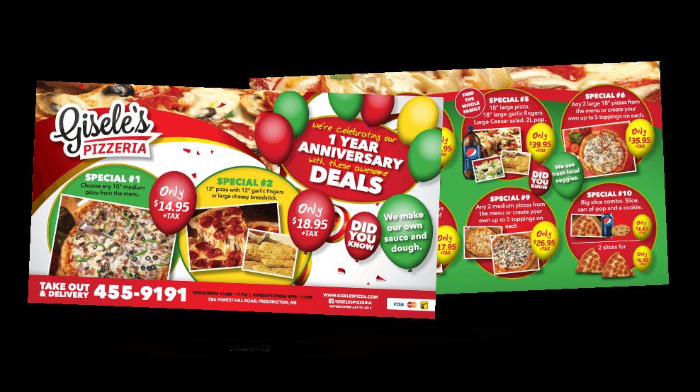 Gisele's Pizzeria - Flyer