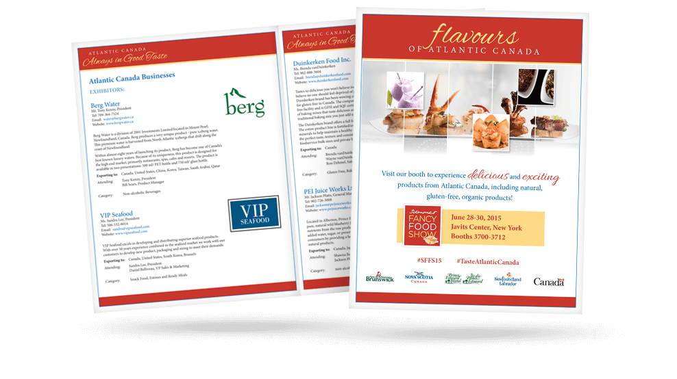 Flavours of Atlantic Canada -Brochure