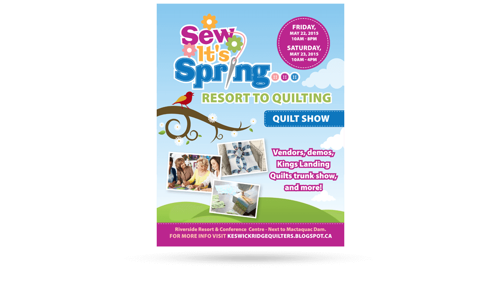 Sew Its Spring - Poster