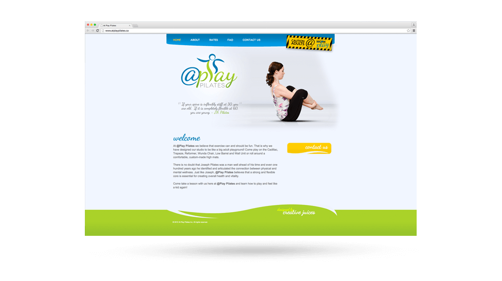 At Play Pilates - Website