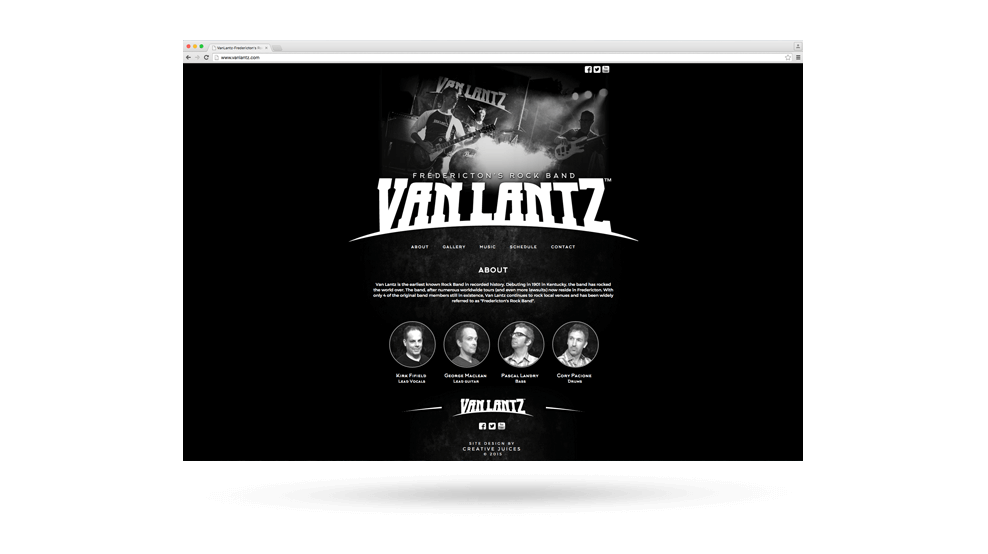 Van Lantz - Website