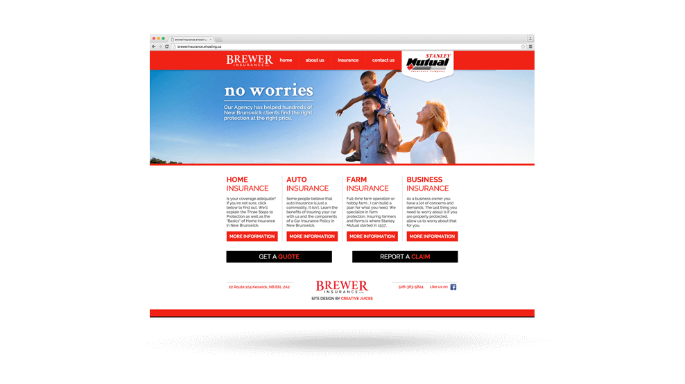 Brewer Insurance - Website