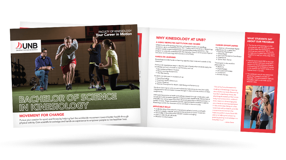 UNB Kinesiology - Brochure