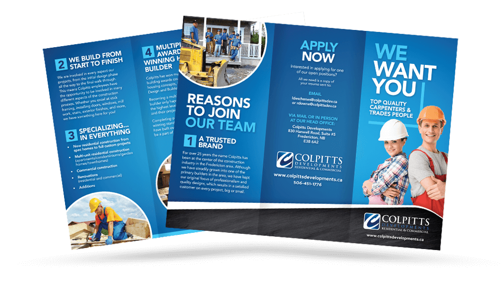 Colpitts Developments - We Want You - Brochure