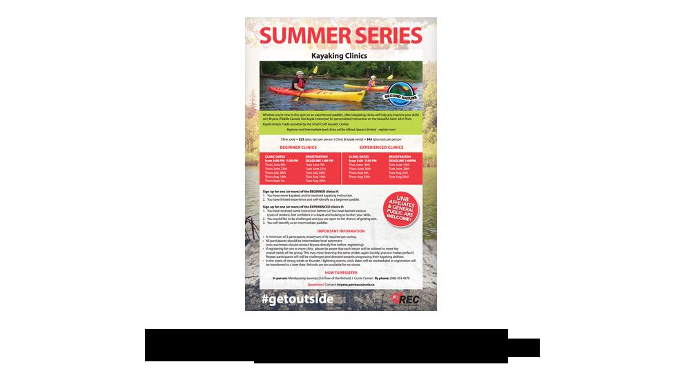 UNB (URec) Summer Series - Poster