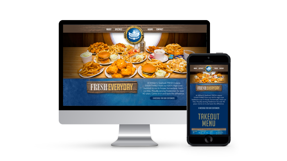 William's Seafood - Website