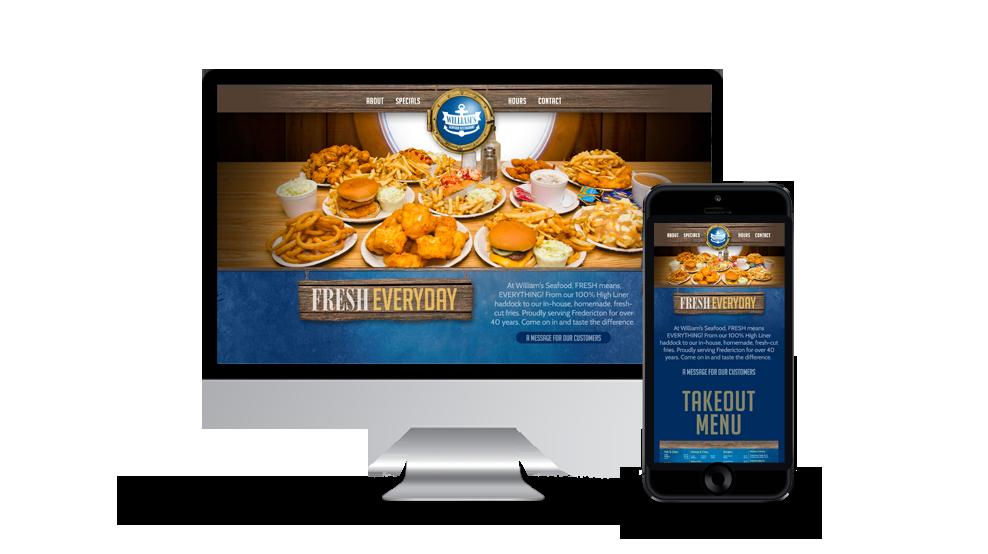 William's Seafood - Website