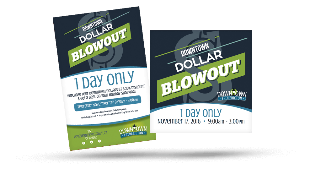Downtown Fredericton - Dollar Blowout Promo