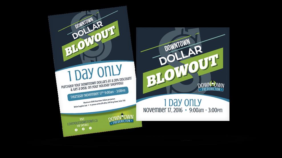 Downtown Fredericton - Dollar Blowout Promo