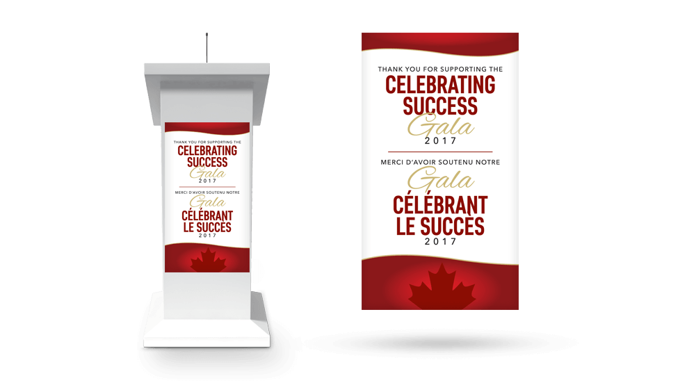 Celebrating Success - Podium Sign