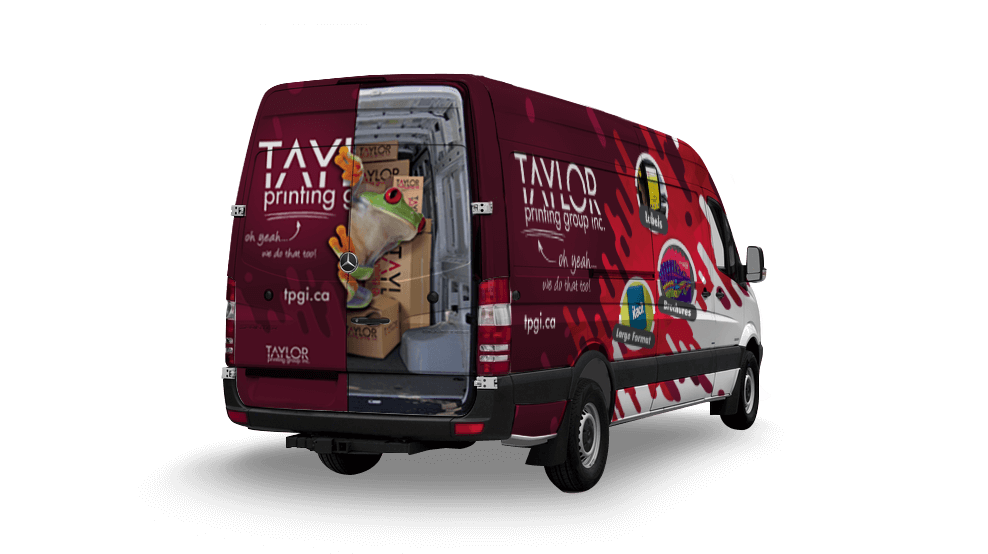 Taylor Printing Delivery Van - Vehicle Wrap
