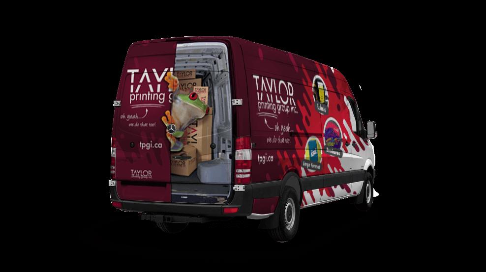 Taylor Printing Delivery Van - Vehicle Wrap
