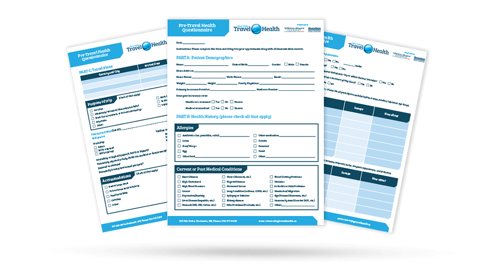River Valley Travel Health Forms