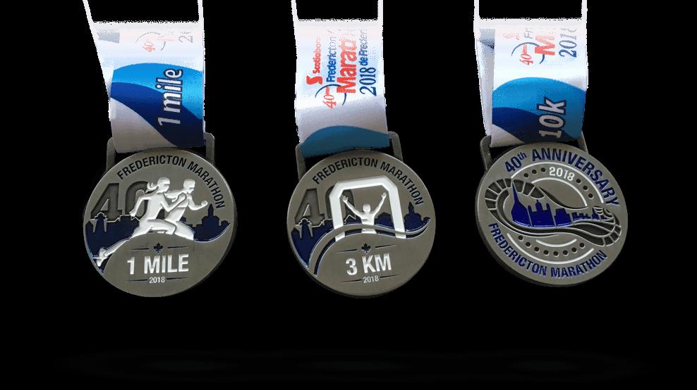 Fredericton Marathon Medals