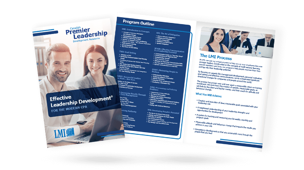 LMI Effective Leadership Development- Brochure