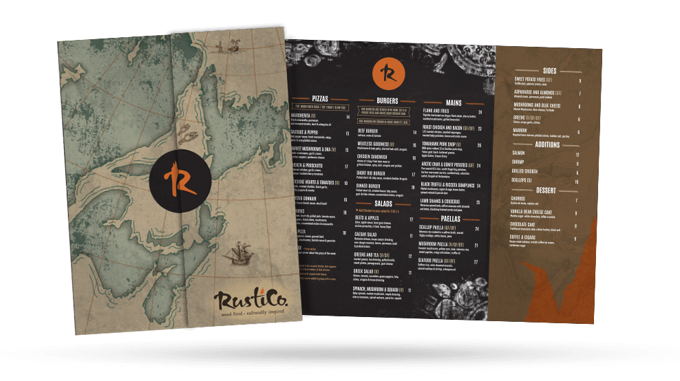 Rustico - Dinner Menu