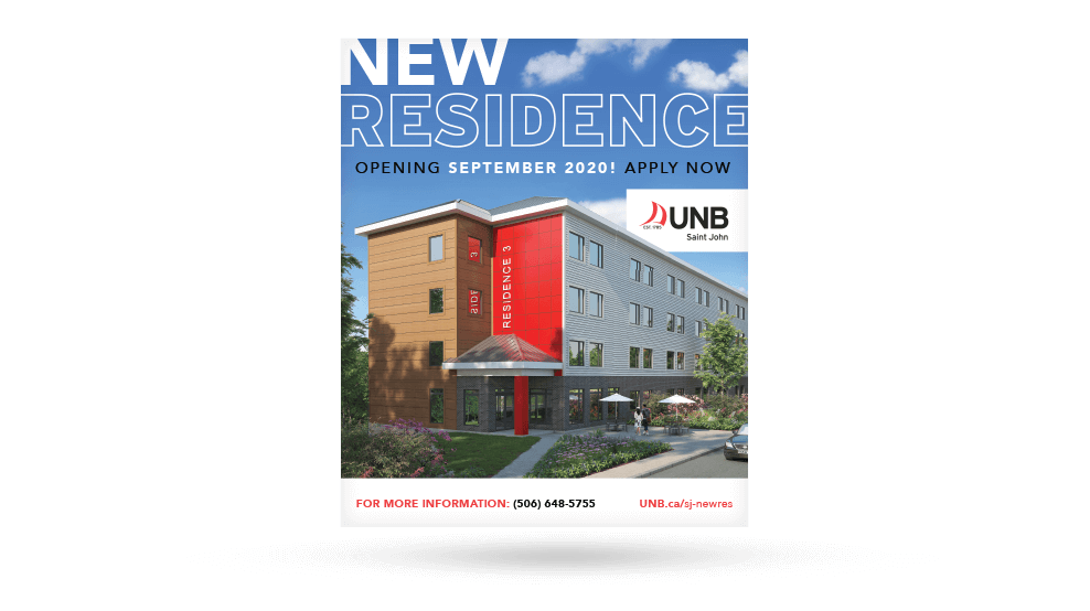 UNBSJ-NewResidenceSign